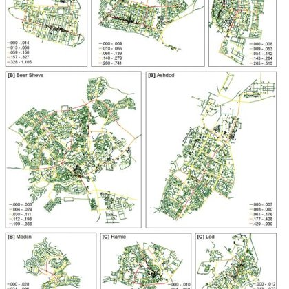 Geographical distribution of retail land use on the background of Choice centrality values